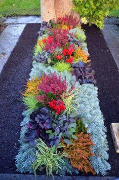 Grabgestaltung-01 | Selber machen | Cemetery flowers ...