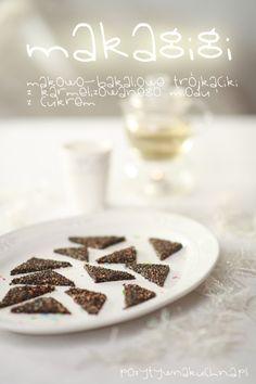 #przepis na makagigi - #ciastka z maku, chrupiące i słodkie  http://pozytywnakuchnia.pl/makagigi/  #kuchnia