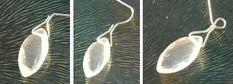 Bastelanleitung Ohrringe machen mit Edelstein Brioletten