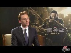 Tom Hiddleston in Beijing. I just love looking at his face when he's listening to the interviewer ask questions in Chinese, because it's like he's trying to understand her even though he doesn't know the language.