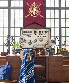 Pottery Barn's teen line has released a Harry Potter home collection inspired by the novels' magical symbols and the dorm rooms at Hogwarts.
