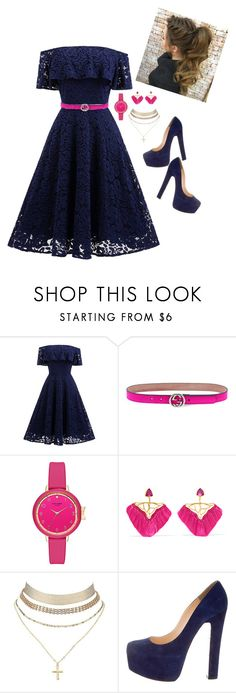 """""""define boring? better than you'll ever be"""" by teejay0003 on Polyvore featuring Gucci, Katerina Makriyianni, Charlotte Russe and Christian Louboutin"""