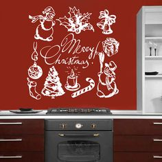 Wall Decals Merry Christmas And Happy New Year Reindeer - Wall decals 2016