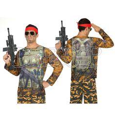 Disfraz camiseta 3 D Rambo para hombre - Dresoop.es