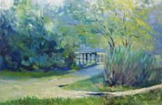 New Jersey Landscape Oil Painting Pathways and Foliage