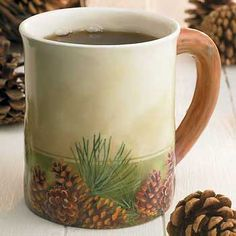 PINECONE SCULPTED MUG By Persis Clayton Weirs ~ Savor A Warm Cup Of Cocoa  Or An. Pinecone DecorCabin KitchensKitchen ...