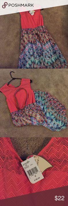 Girls dress - Brand new w/ tags Brand New dress with belt. Never worn, size 16. Smoke free home Dresses