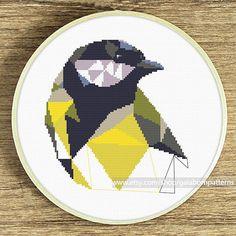 Bird cross stitch pattern Modern cross stitch by galabornpatterns