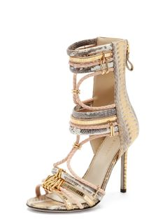 Snakeskin Gladiator Sandal by Sergio Rossi at Gilt