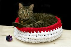 DIY Pets: Crocheted Cat Bed
