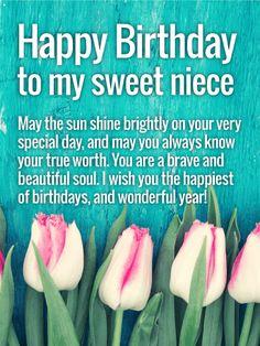 Wishing You a Wonderful Year! Happy Birthday Wishes Card for Niece