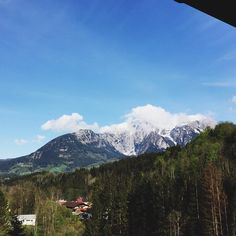 View from balcony #mountains #Alps #alpenhouse #sky #clouds #forest #nature #dream #berchtesgaden #germany #travel