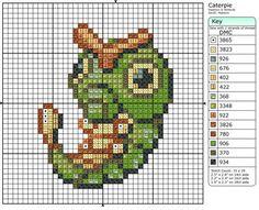 10 - Caterpie by Makibird-Stitching.deviantart.com on @deviantART