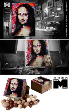 VAGNELIND art represented at mini hotel hong kong. THey used my painting for advertisements in magazine and gift boxes 2014