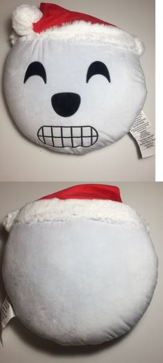 Decorative Bed Pillows 115630: Emoji Face Christmas Round Pillow Plush -> BUY IT NOW ONLY: $13.99 on #eBay #decorative #pillows #emoji #christmas #round #pillow #plush Emoji Christmas, Christmas Pillow, Winter Christmas, Snowman Faces, Soft Pillows, Decorative Pillows, Bed Pillows, Emoji Love