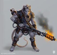 Ratkin Incinerator concept by KJKallio on DeviantArt