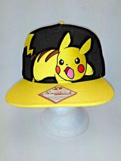 Original Adjustable Snapback Pokemon Pikachu Hat Cap Nintendo New  fashion   clothing  shoes   4afb90de9d0a