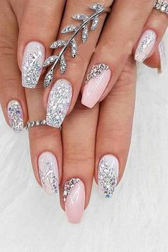 30 Adorable Nail Art Designs of 2019 Let mama cook delicious cookies. You just sit back and Adorable Nail Art Designs of Ballerina Nails in Muted ColorsThis Simple Wedding Nails, Wedding Nails Design, Wedding Nails Art, Bridal Nail Art, Wedding Manicure, Wedding Nails For Bride, Wedding Makeup, Cute Nails, Pretty Nails