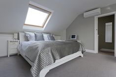 London bedroom loft conversion via Loft Storage, Loft Conversion, Home, Bedroom Loft, Barn Bedrooms, London Bedroom, Loft Room, Loft Spaces, Bedroom With Bath