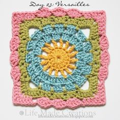 Versailles Granny Square ~ free pattern