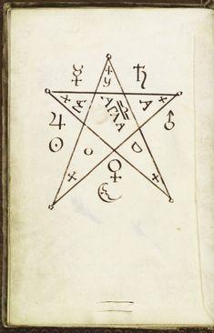 Pentagram Seal, from Cyprianus, Clavis Inferni, late 18th Century