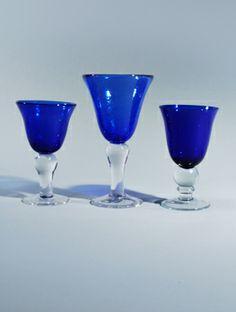 Blue glassware | cobalt blue glassware.