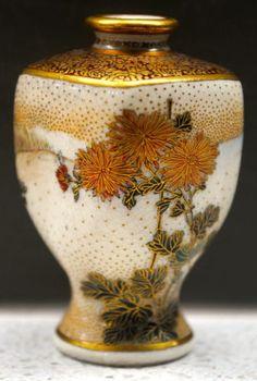 Signed Seikozan Meiji Japanese Satsuma Lakeside Floral Mountain Scene Vase | eBay