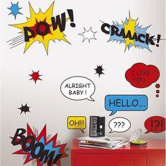 Sticker Comic, 47 x 67 cm Chambre Nolan, Decoration, Room Decor, Diy Crafts, Comics, Party, Kids, Inspiration, Images