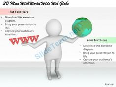 1813 3D Man with World Wide Web Globe Ppt Graphics Icons Powerpoint #Powerpoint #Templates #Infographics