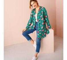 Dlhá kimono košeľa | blancheporte.sk #blancheporte #blancheporteSK #blancheporte_sk #jarnakolekcia #jar #isabella Kimono Top, Blog, Fashion, Tunic Blouse, Dress Shirt, White Patterns, Dress Black, Woman Clothing, Cotton
