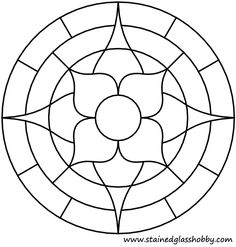 Flower round panel outline