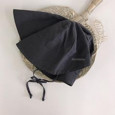 Monbebe Bucket Bonnet (Charcoal Grey)