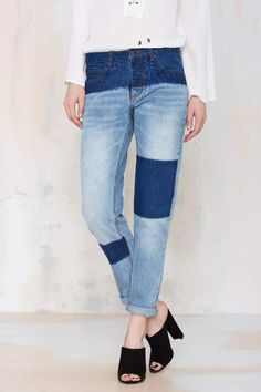 #DIY Bleached Denim Jeans // Inspiration   Courtshop Shadow Boyfriend Jean - Denim | Newly Added |  | Denim | $68 Denim