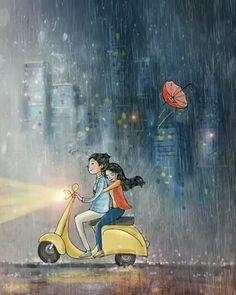 you+me+activa+rain so much adventure was there Love Cartoon Couple, Cute Love Cartoons, Anime Love Couple, Cute Disney Wallpaper, Cute Cartoon Wallpapers, Love Wallpaper, Cute Couple Drawings, Cute Couple Art, Anime Girl Drawings