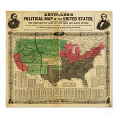 "This 1856 ""political map"" highlights ""the territory open to slavery or freedom by the repeal of the Missouri Compromise""—namely, Kansas. Nebraska, American Civil War, American History, American Odyssey, Missouri Compromise, Daddy, United States Map, Old Maps, Infographics"