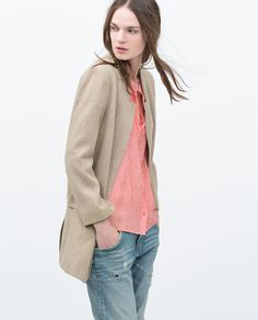 ROUGH LINEN COAT-Woman-NEW THIS WEEK   ZARA United States