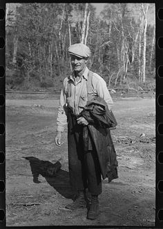 Lumberjack at camp near Effie, Minnesota. By Photographer Russell Lee, 1903-1986