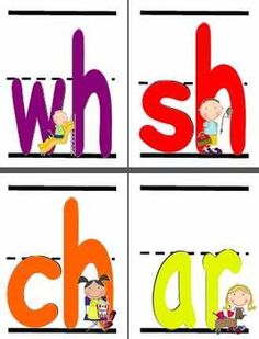 These large flash cards (stick kid version) are whole sheets (8 1/2 x 11).  Includes upper/lowercase alphabet, digraphs, & vowel combinations.