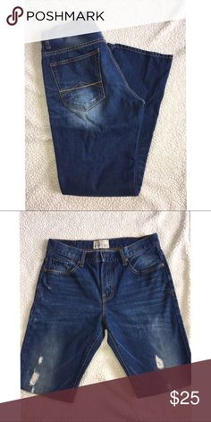 Men's blues! Holy comfy jeans! My husband loves these but ready to love on. Aeropostale Jeans Slim Straight