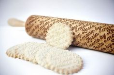 Customized Culinary Rolling Pins - These Engraved Rolling Pins Bring an Individual Touch to Baking (GALLERY)