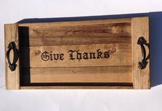 Rustic tray Thanksgiving serving tray give by LodgeDecorNMore
