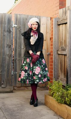 Vintage Inspired Winter Fashion. Really cute!  - Shop The Top Online Women's Clothing Stores via http://AmericasMall.com/categories/womens-wear.html