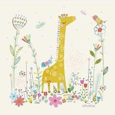 Love our little giraffe canvas for @lilipinso #regram #kidsdecor #printandpattern