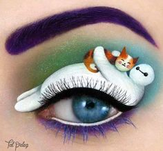 Enteresan göz makyaj tasarımları