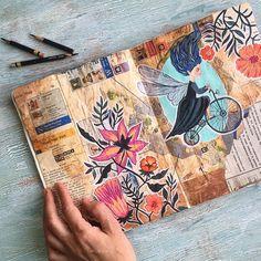 Artbook sketchbook spread - Sofia M.