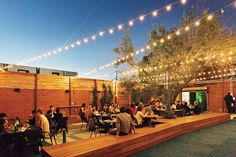 Everson Royce Bar, Wolf, The Butcher's Daughter, Now on The Resy Hit List — Resy Outdoor Restaurant Patio, Outdoor Cafe, Restaurant Exterior, Restaurant Design, Beach Cafe, Hermosa Beach, City Of Angels, Beer Garden, Downtown Los Angeles