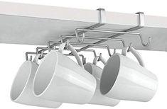 Metaltex Shelf Mug Holder, Polytherm Coated, Silver, SpiderMug Wall Cupboards, Cupboard Shelves, Corner Shelves, Kitchen Cupboards, Kitchen Utensils, Kitchen Dining, Cabinets, Mug Holder, Mug Rack