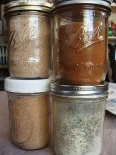 Making Your Own Mixes: Chili, Cinnamon Toast, Lawry's Taco Seasoning, Ranch Dressing : Let This Mind Be in You Homemade Spices, Homemade Seasonings, Homemade Ranch Seasoning, Spice Blends, Spice Mixes, Chutneys, Do It Yourself Food, Salsa Dulce, Seasoning Mixes