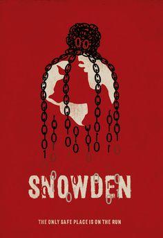 Snowden (2016) ~ Minimal Movie Poster by Neven Udovicic #amusementphile