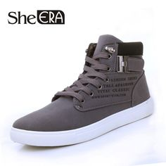 2016 Hot Men Shoes Sapatos Masculino Male Fashion Autumn Winter Leather Fur Boots For Man Casual High Top Canvas Men Shoes-in Men's Vulcanize Shoes from Shoes on Aliexpress.com | Alibaba Group